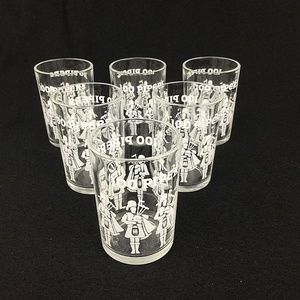 Seagrams 100 Pipers Shot Glasses 2 oz Set of 6